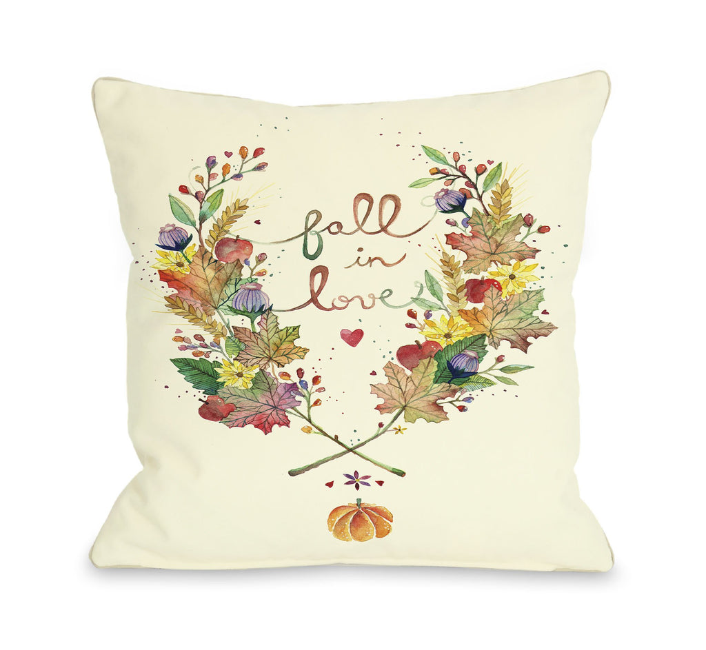 Fall In Love Throw Pillow - Fall Decor - Premier Home & Gifts
