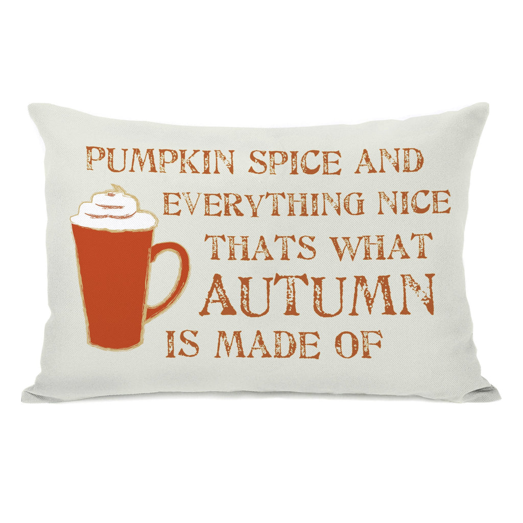 Pumpkin Spice Lumbar Throw Pillow - Fall Decor - Premier Home & Gifts