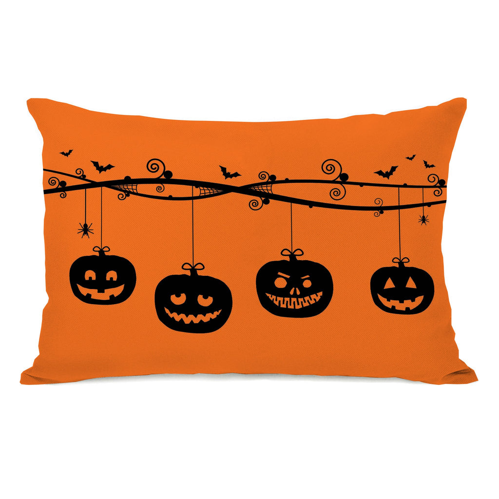 Pumpkins on a Branch Lumbar Throw Pillow - Halloween Decor - Premier Home & Gifts