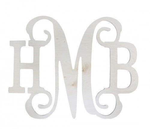 Classic Wood Monogram - Monogrammed Decor