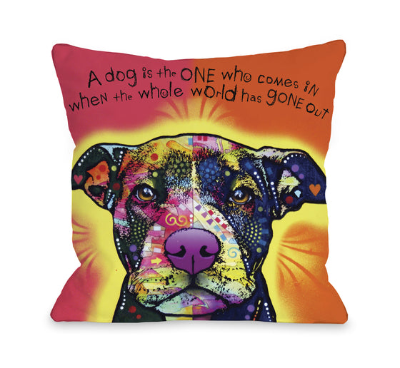 A Dog is the One Throw Pillow - Premier Home & Gifts