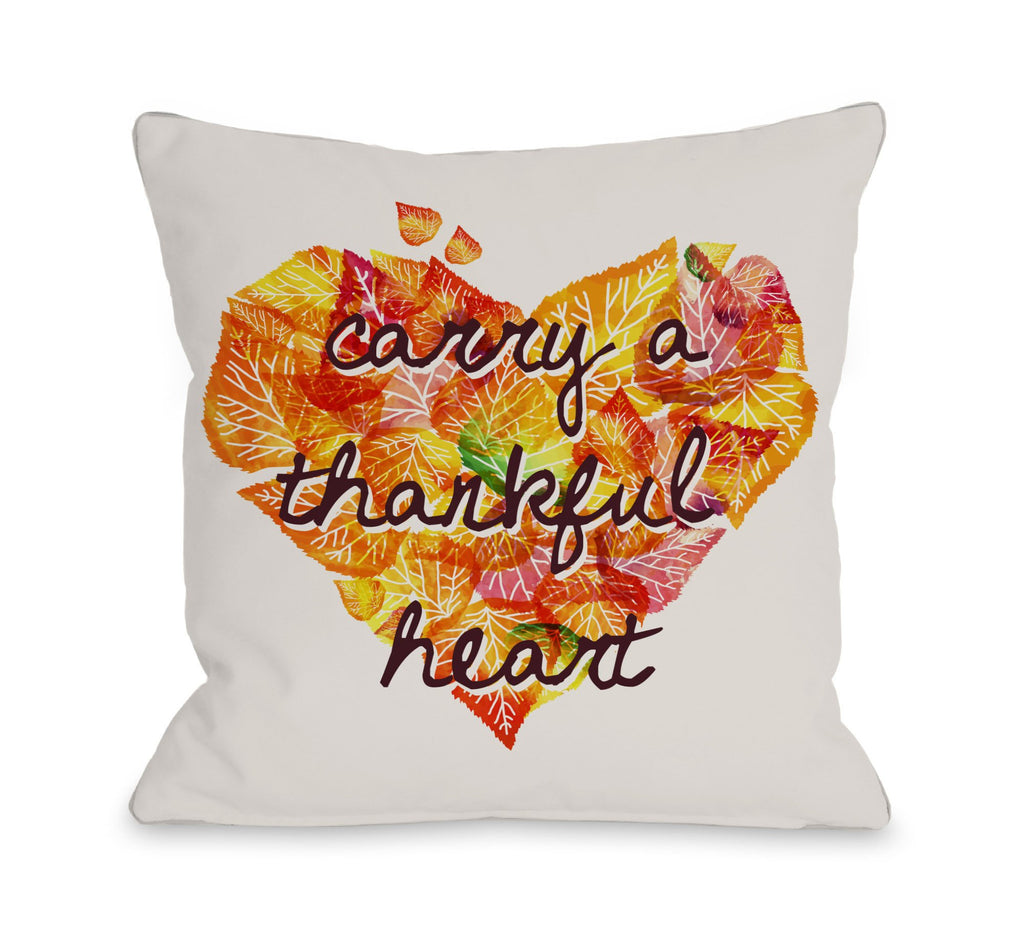 Thankful Heart Throw Pillow - Fall Decor - Premier Home & Gifts