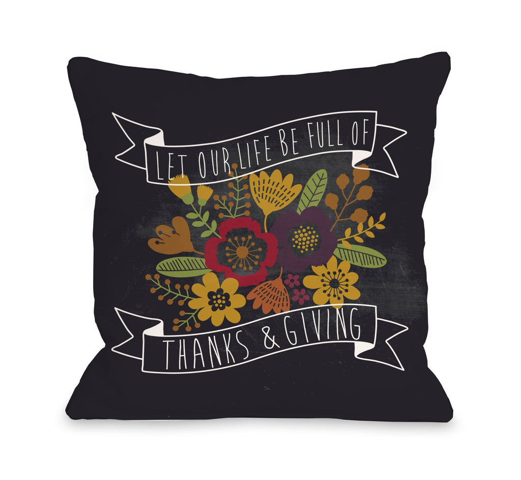 Thanks and Giving Throw Pillow - Fall Decor - Premier Home & Gifts
