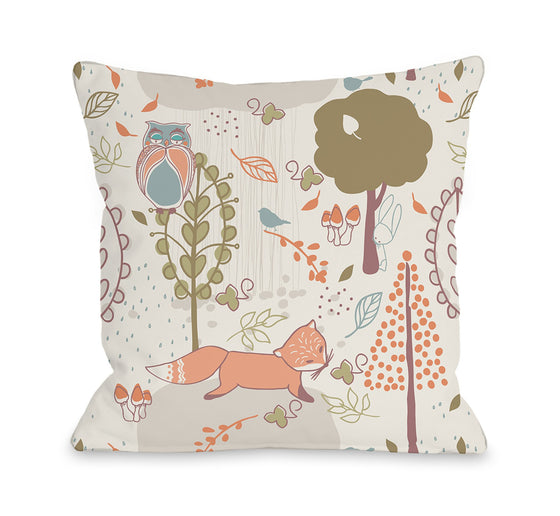 Autumn Critters Throw Pillow - Fall Decor - Premier Home & Gifts