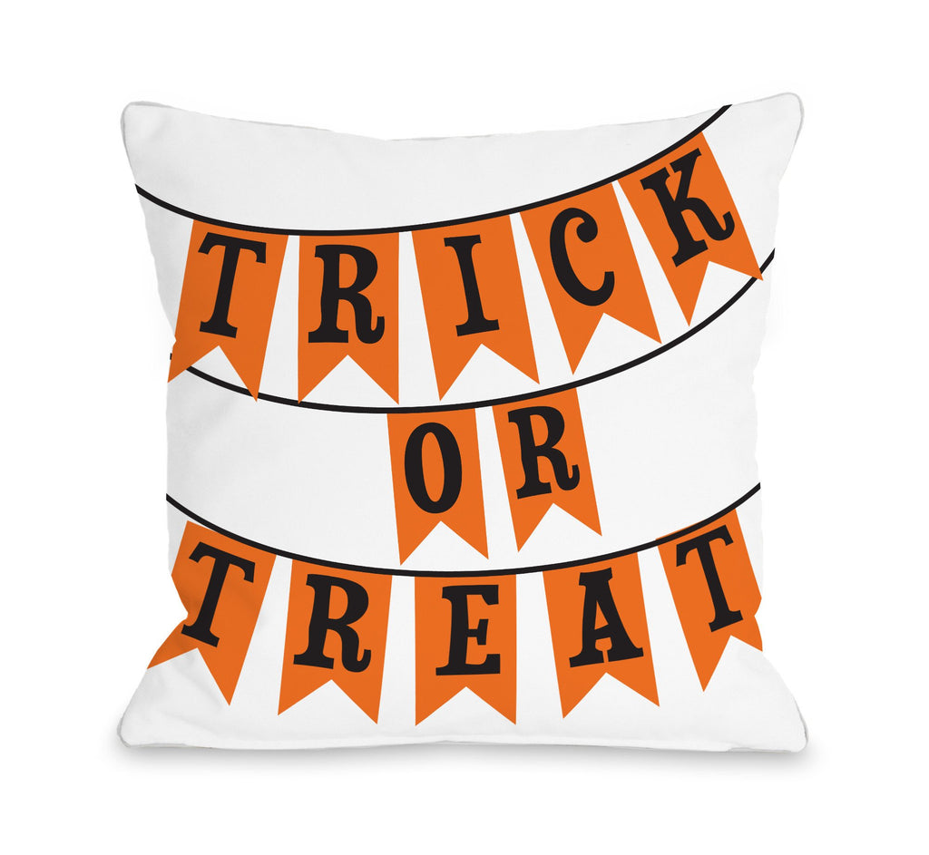 Treat or Treat Banner Throw Pillow - Halloween Decor - Premier Home & Gifts