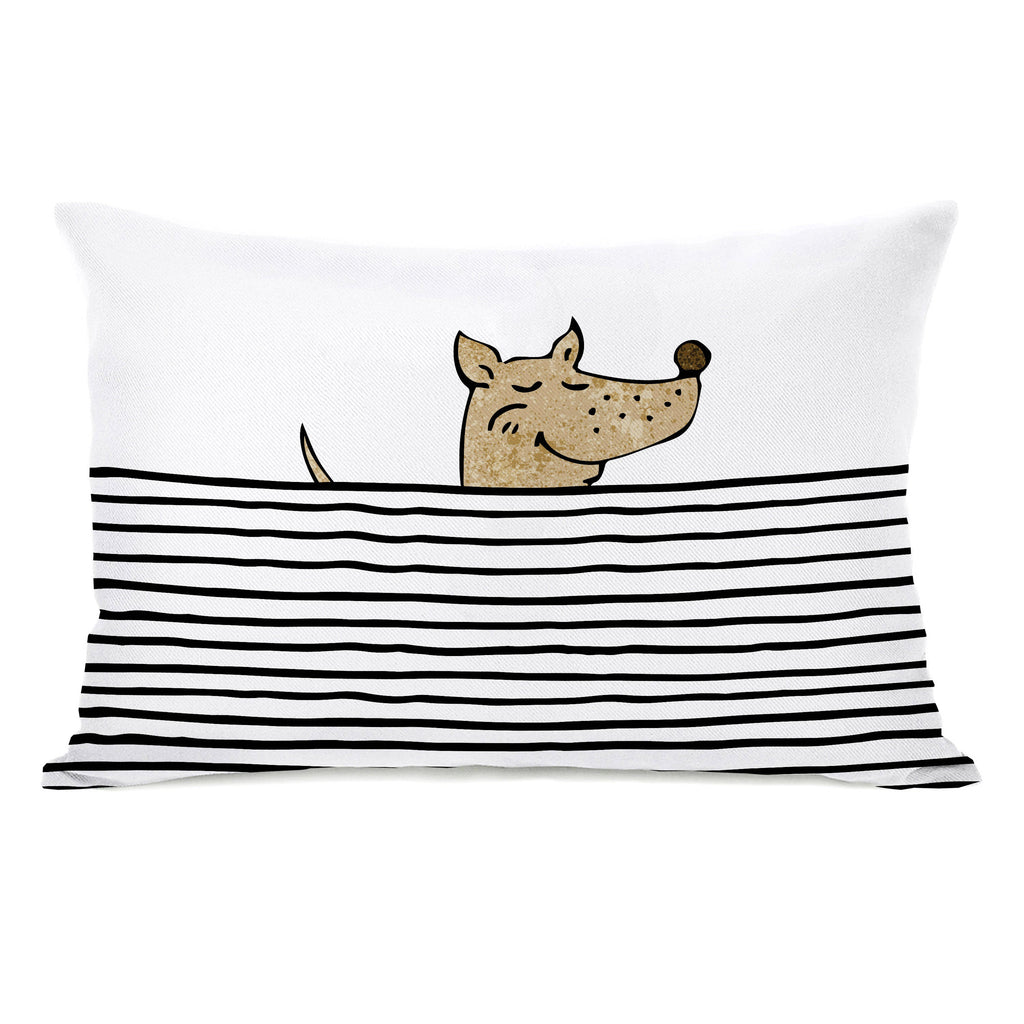 Peeking Dog Throw Pillow - Premier Home & Gifts