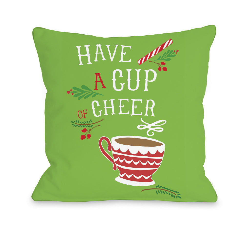 Cup of Cheer Throw Pillow - Christmas Decor - Premier Home & Gifts