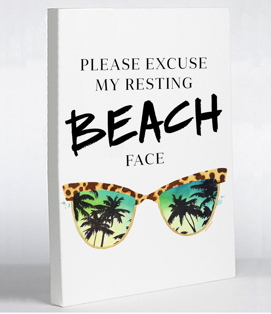 Resting Beach Face Canvas Print - Premier Home & Gifts