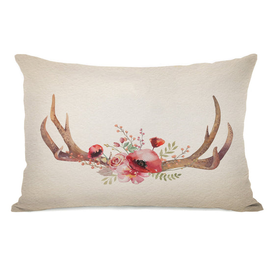 Boho Antlers Lumbar Throw Pillow - Home Decor - Premier Home & Gifts