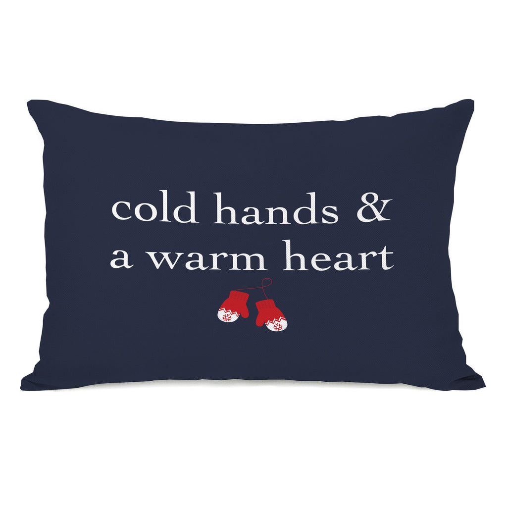 Cold Hands Warm Heart Lumbar Throw Pillow - Christmas Decor - Premier Home & Gifts