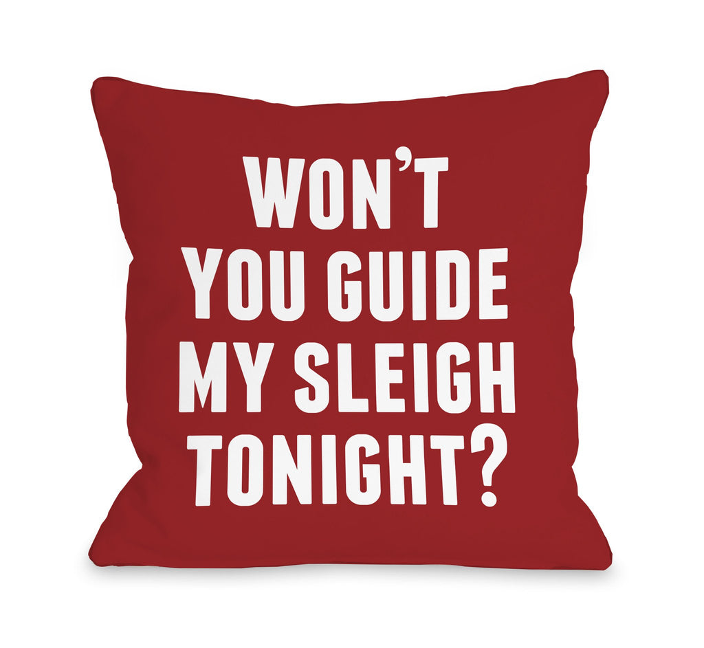 Guide My Sleigh Throw Pillow - Christmas Decor - Premier Home & Gifts
