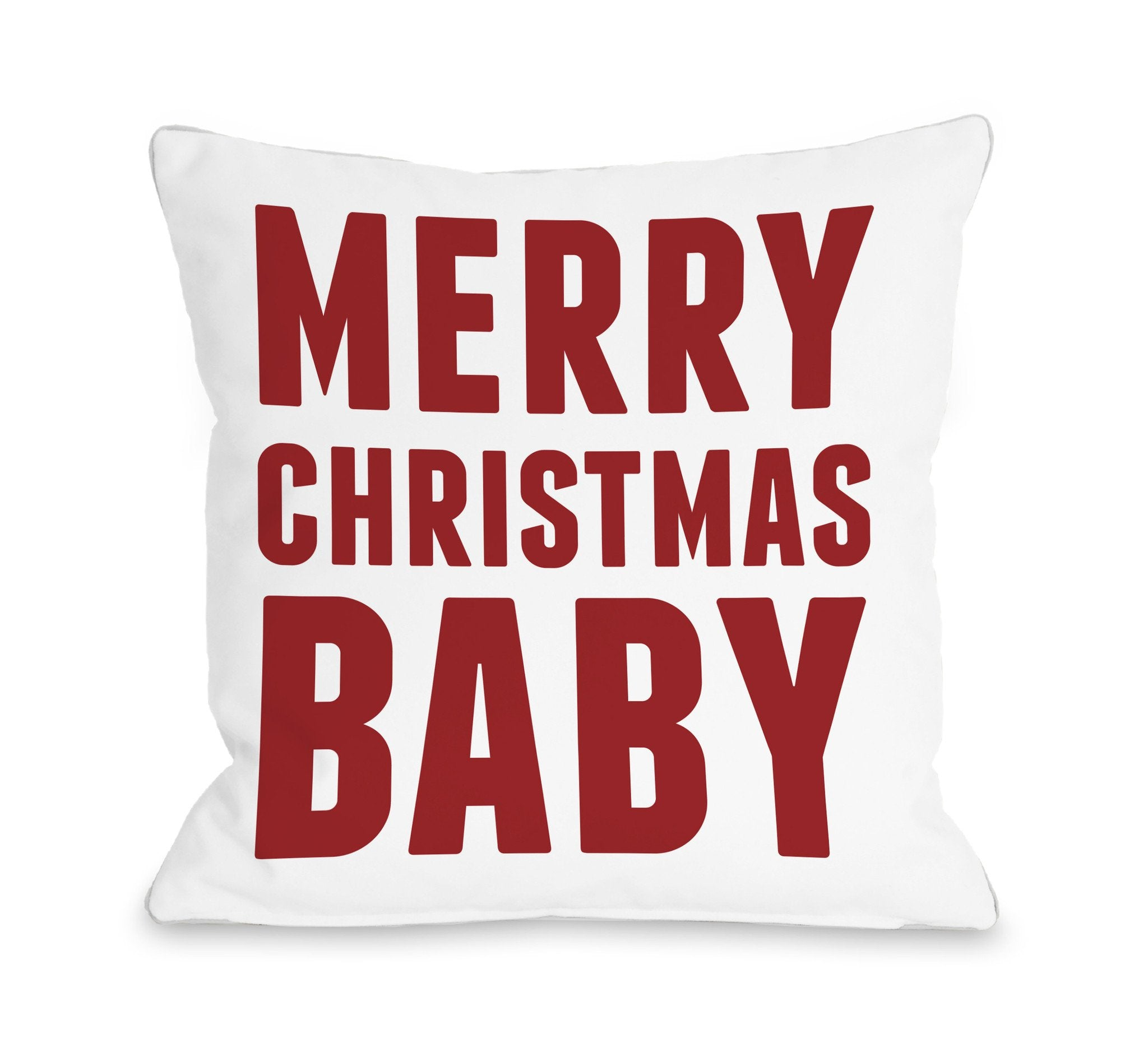 Merry Christmas Baby Throw Pillow