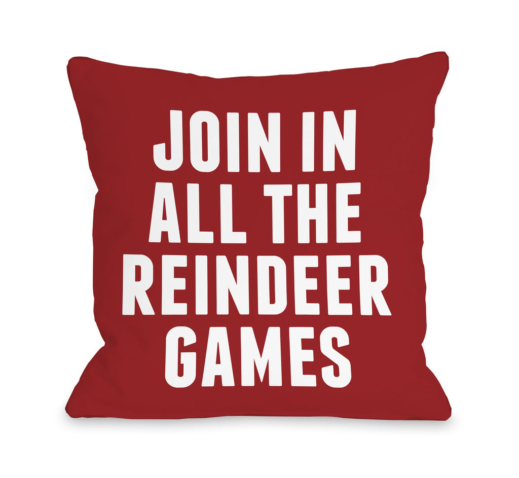 Reindeer Games Throw Pillow - Christmas Decor - Premier Home & Gifts
