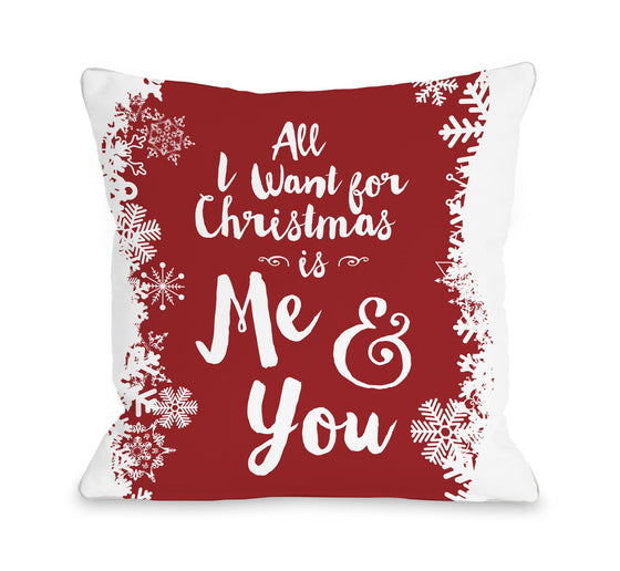Christmas Me and You Throw Pillow - Christmas Decor - Premier Home & Gifts