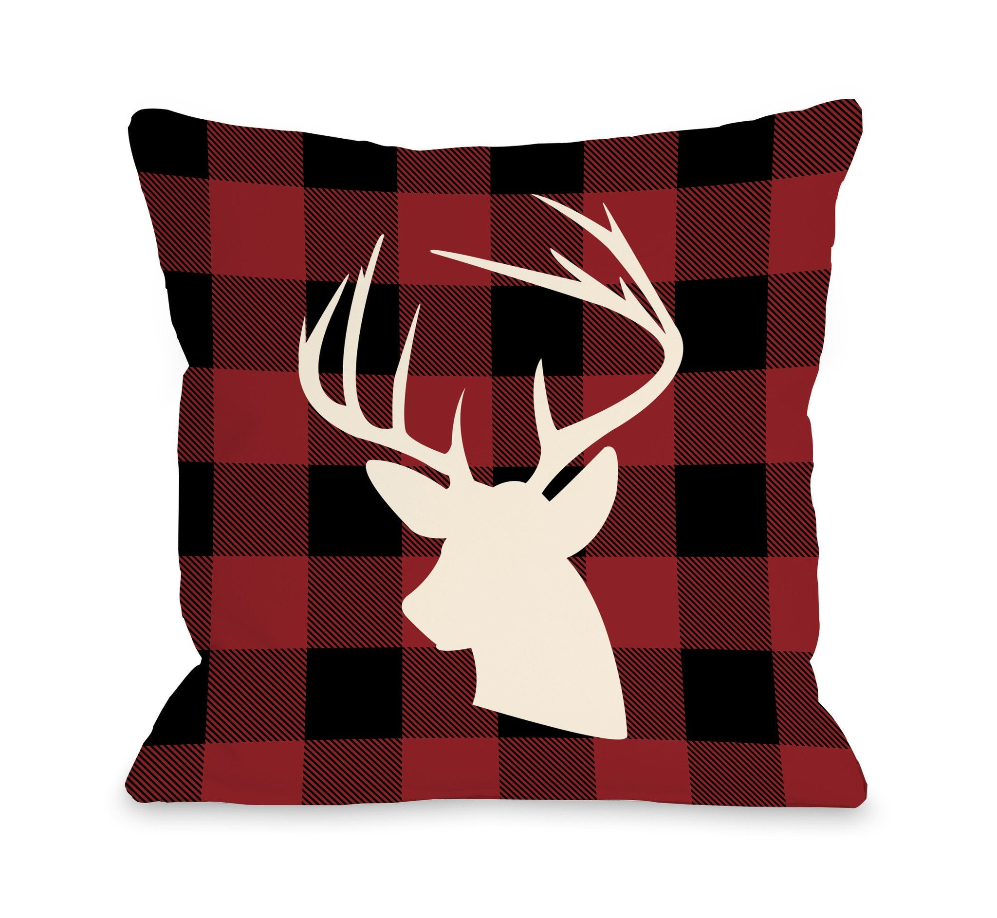 home plaid pillow premier fall deer products gifts pillows comet red throw decor