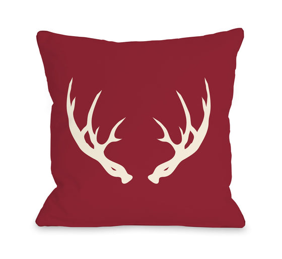 Deer Antlers Throw Pillow - Cabin Decor - Premier Home & Gifts