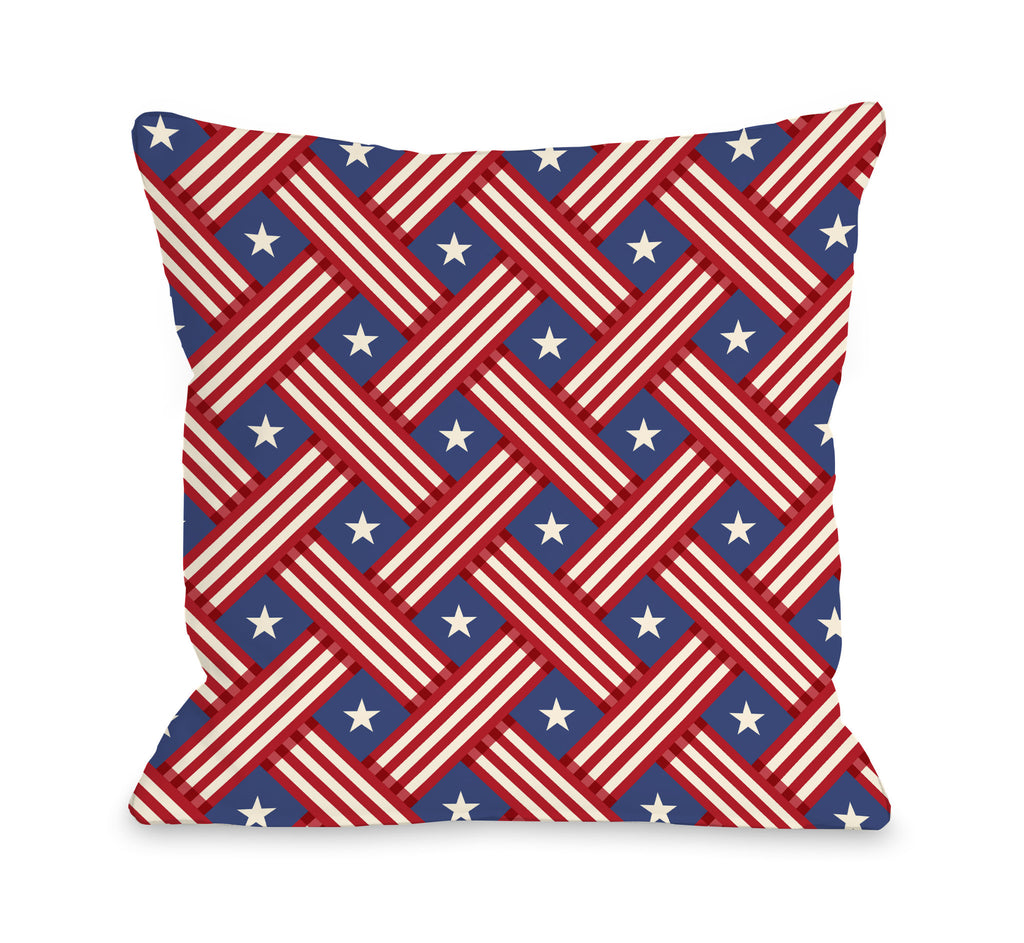 Stars and Stripes Throw Pillow - Premier Home & Gifts