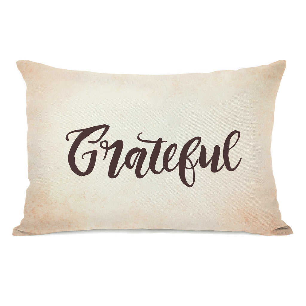 Grateful Lumbar Throw Pillow