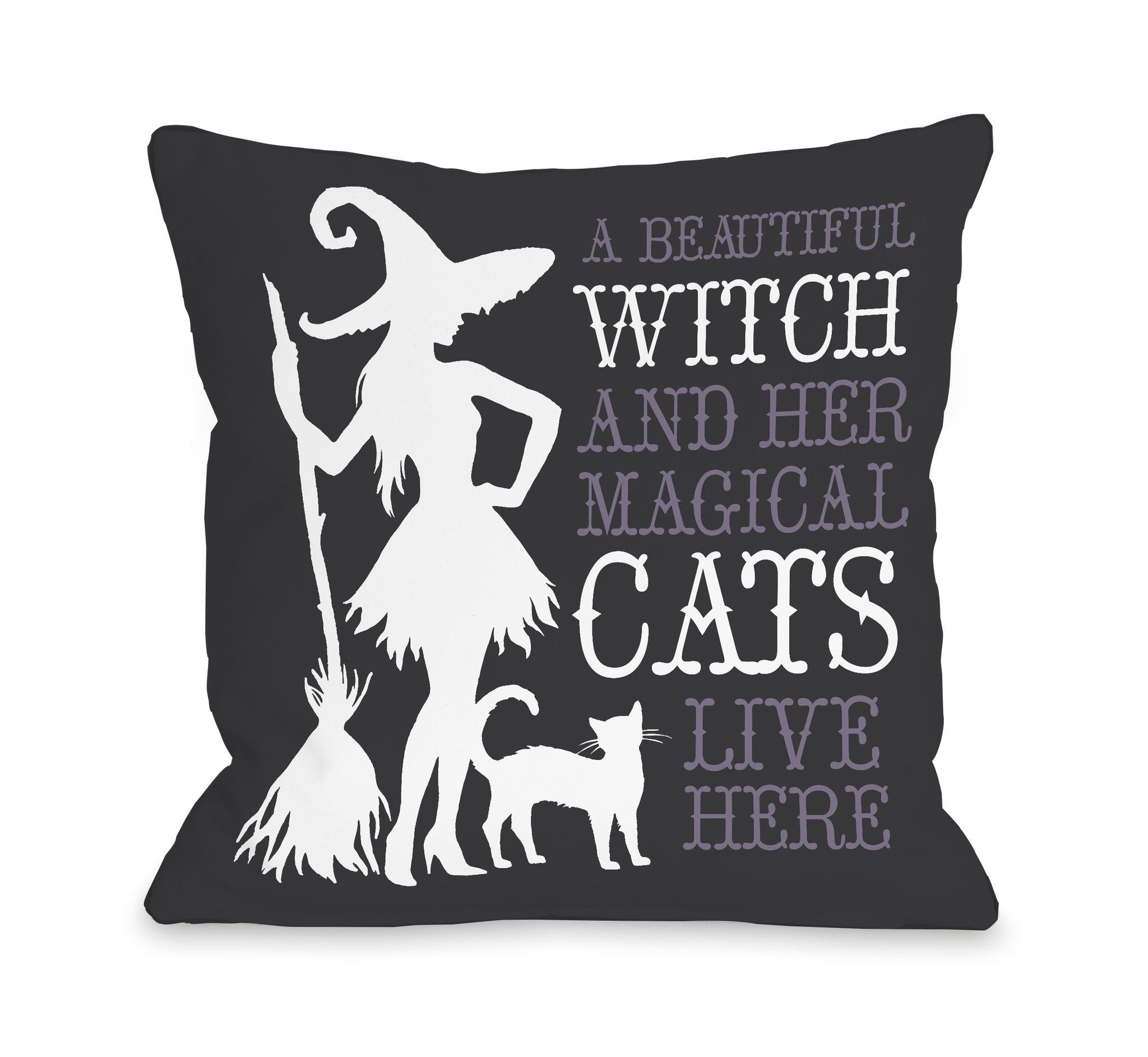 Beautiful Witch Throw Pillow