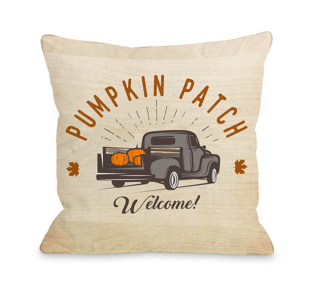 Pumpkin Patch Truck Throw Pillow - Fall Decor - Premier Home & Gifts