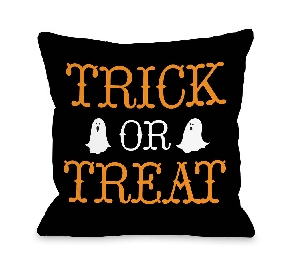 Trick or Treat Ghosts Throw Pillow - Premier Home & Gifts - Halloween Decor