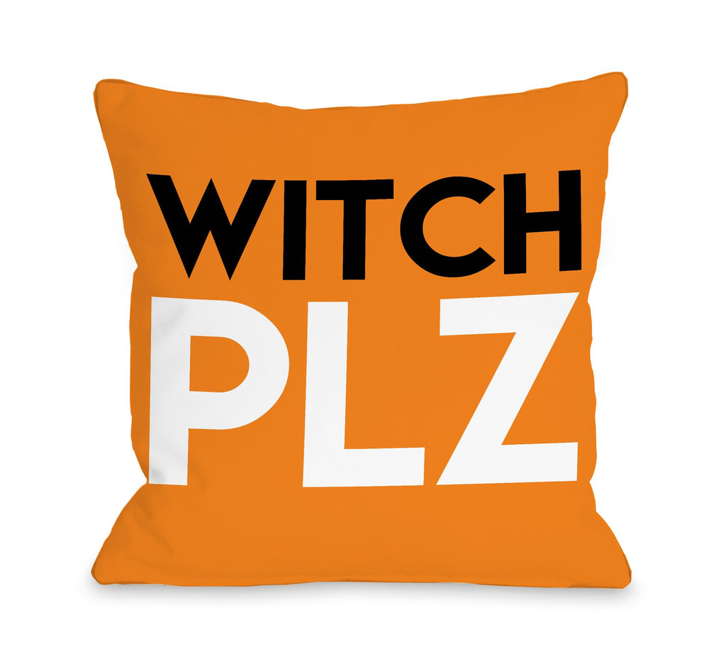Witch Plz Throw Pillow - Halloween Decor - Premier Home & Gifts