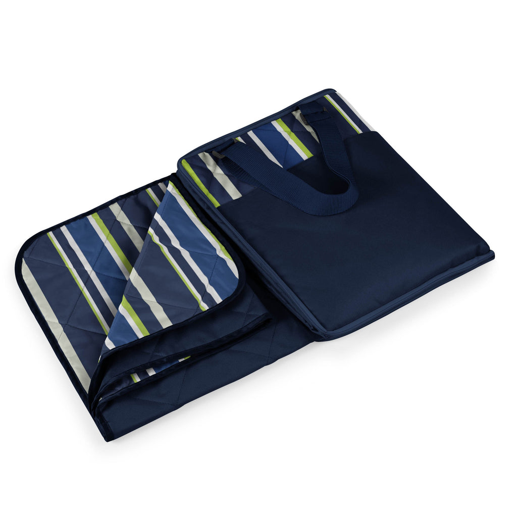 Navy Stripes Picnic Blanket - Premier Home & Gifts