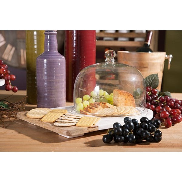Marble & Wood Cheese Dome - Premier Home & Gifts