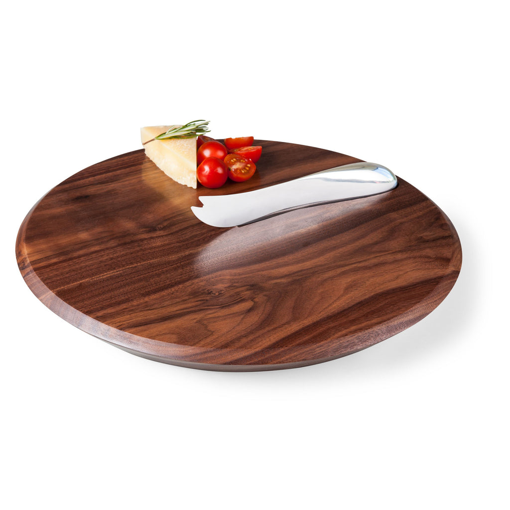 Black Walnut Cutting Board & Cheese Knife Set
