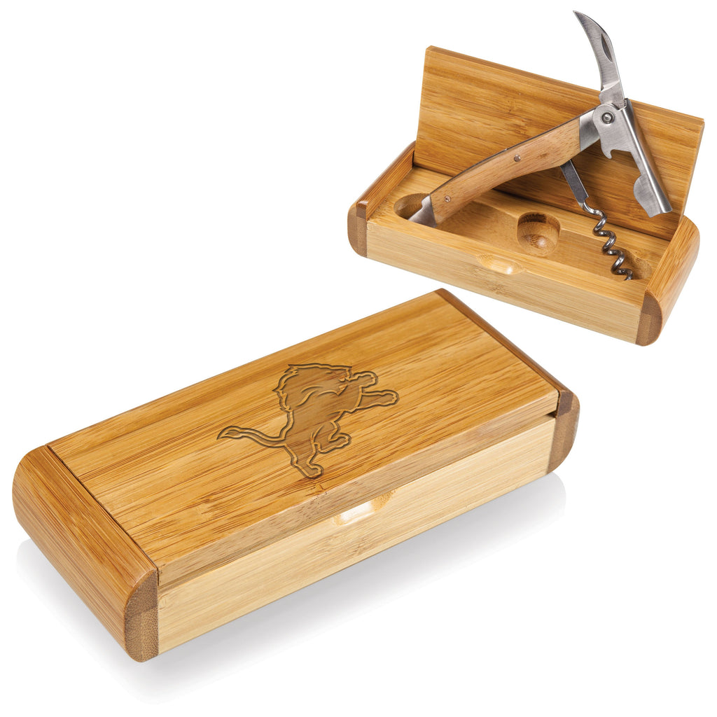 Bamboo Box and Corkscrew - Detroit Lions