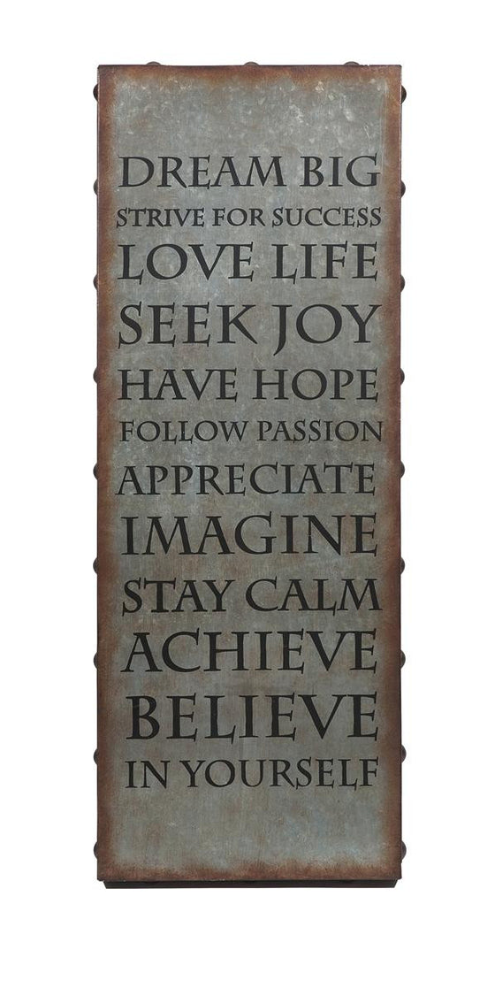 Inspirational Galvanized Wall Art - Premier Home & Gift
