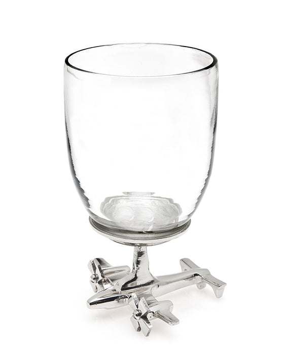 Airplane Base Wine Glasses - Set of 2 | Premier Home & Gifts