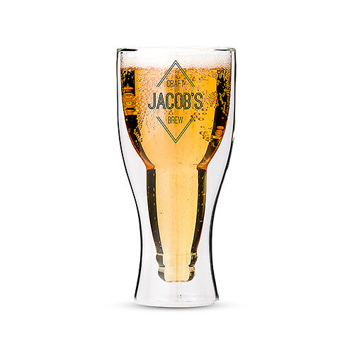 Craft Brew - Double Walled Beer Glass | Premier Home & Gifts