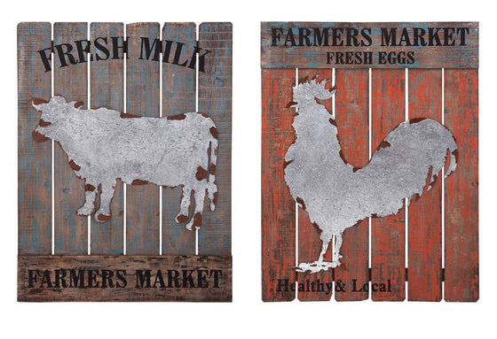 Farmers Market Wall Decor - Set of 2 | Premier Home & Gifts