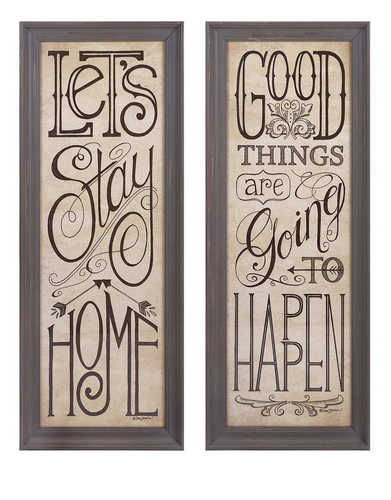 Good Things Word Wall Art - Set of 2 | Premier Home & Gifts