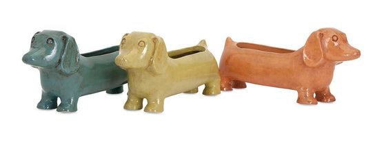 Dachshund Garden Planters - Set of 3 | Premier Home & Gifts