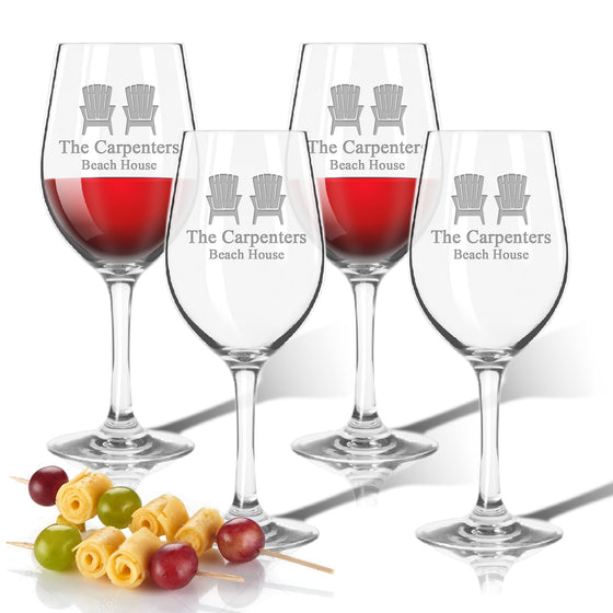 Adirondack Chairs Outdoor Acrylic Wine Glasses - Unbreakable Glassware