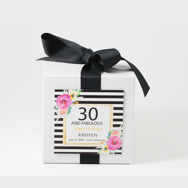 Abella 40 Fabulous Birthday Personalized Candle - Birthday Gifts - Premier Home & Gifts