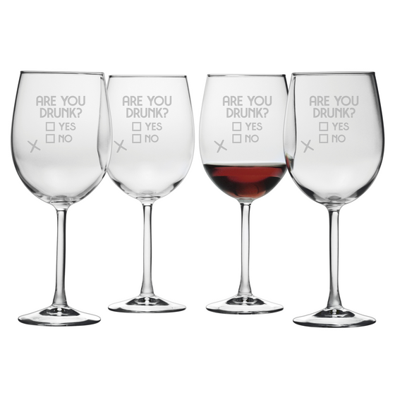 Are You Drunk Wine Glasses - Premier Home & Gifts