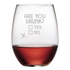 Are You Drunk Stemless Wine Glasses
