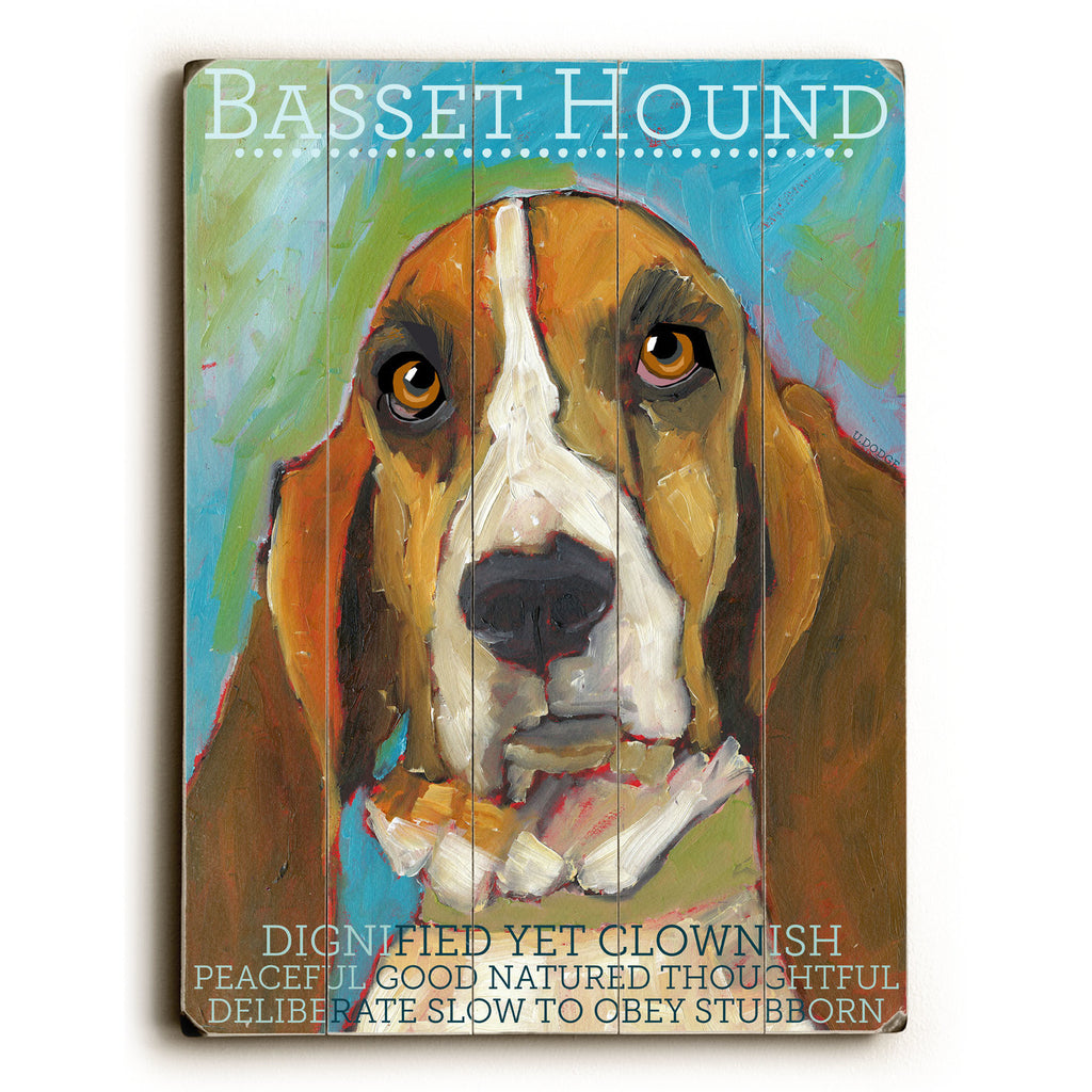 Basset Hound Wood Sign