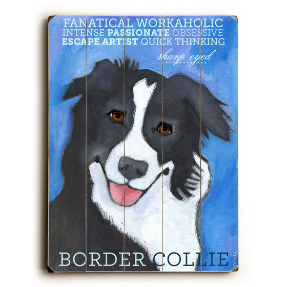 Border Collie Wood Sign