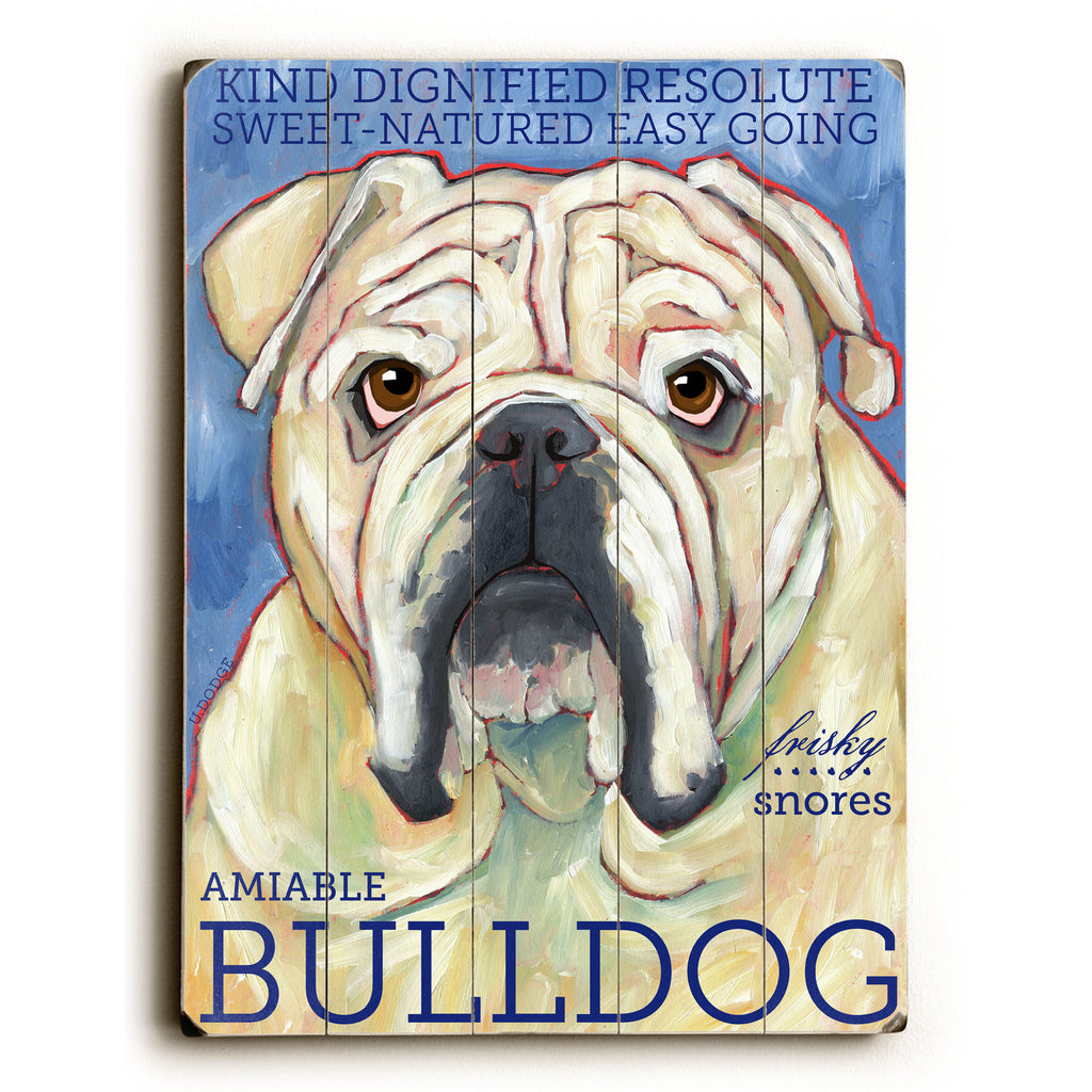 Bulldog Wood Sign