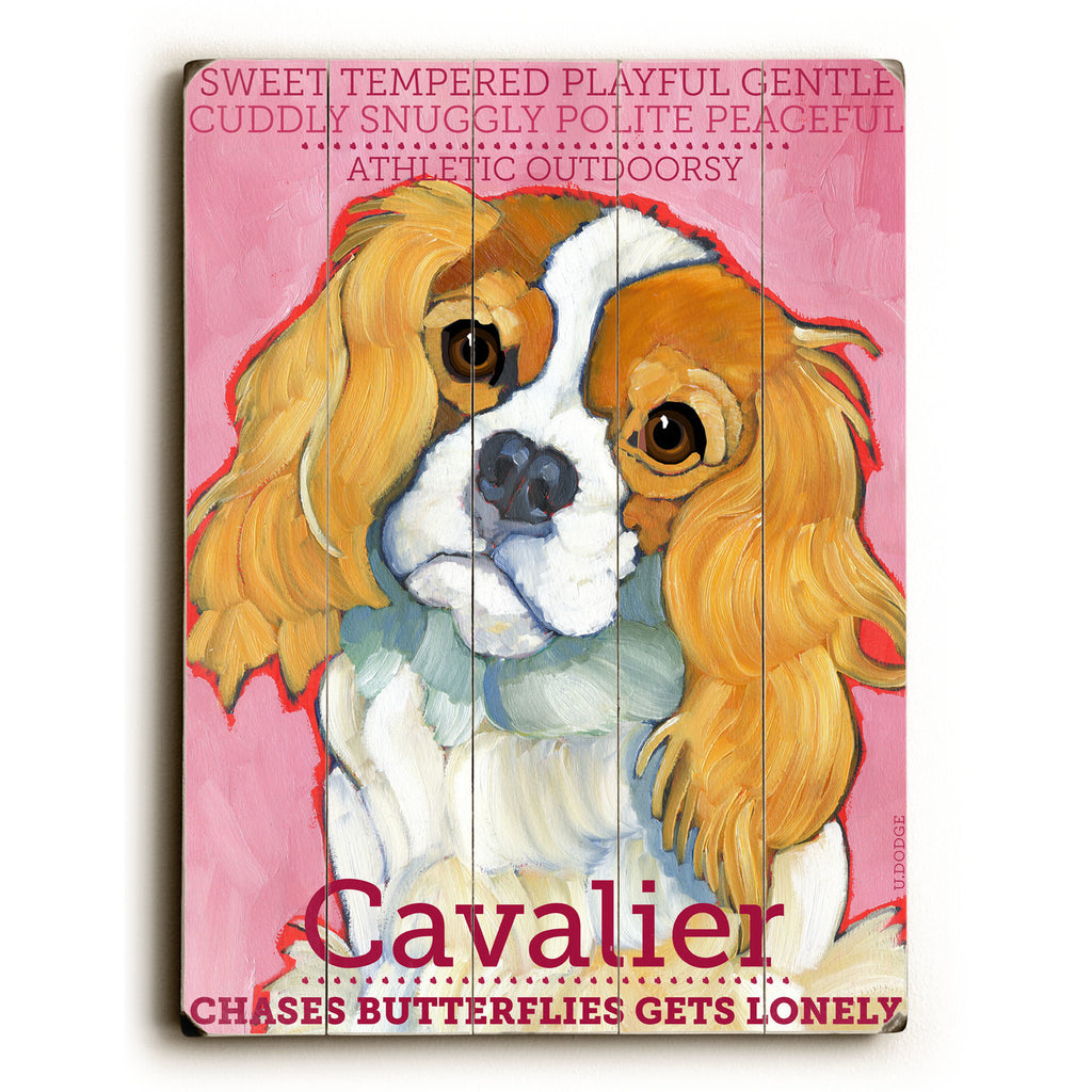 Cavalier II Wood Sign