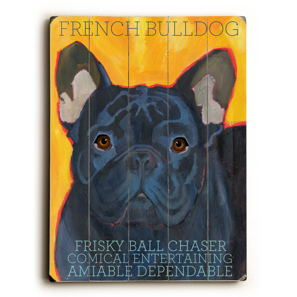 French Bulldog Wood Sign