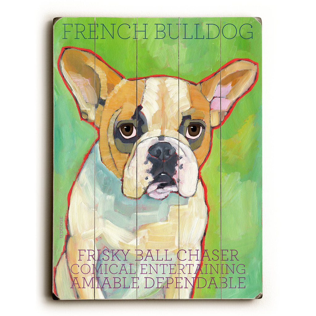 French Bulldog II Wood Sign