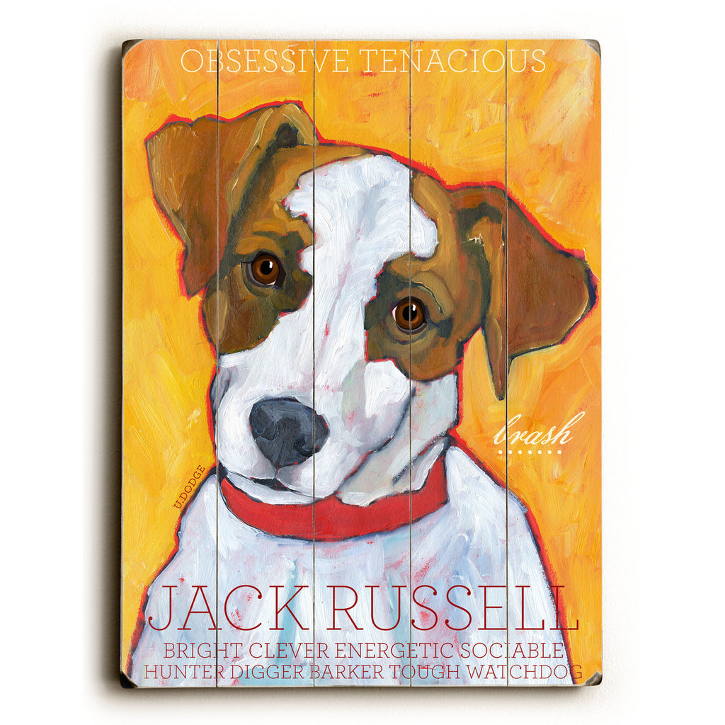 Jack Russell Wood Sign