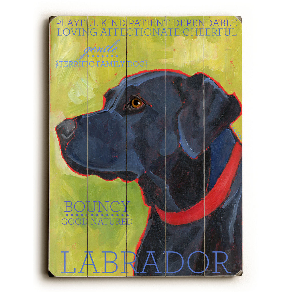 Black Labrador Wood Sign