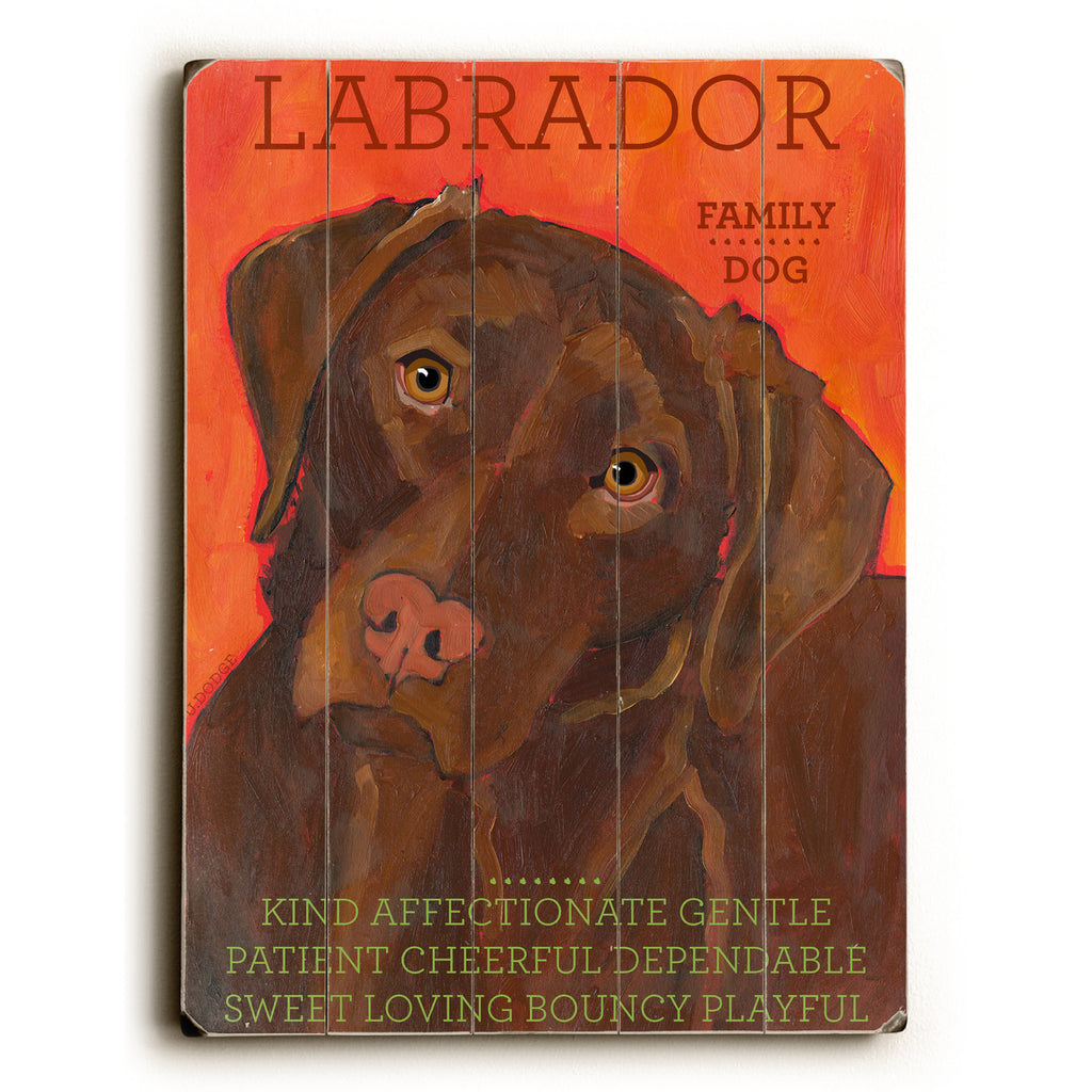 Chocolate Labrador Wood Sign