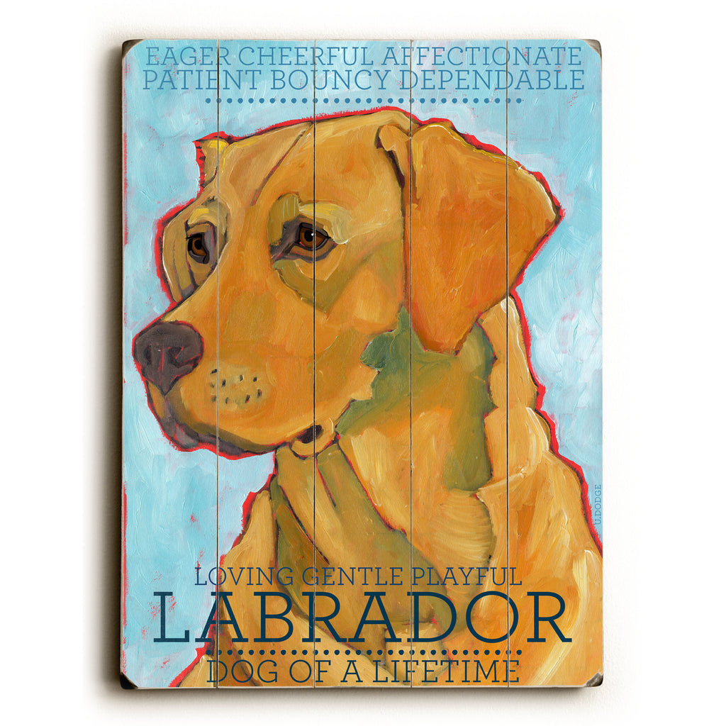 Yellow Labrador Wood Sign